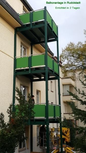 Balkonanbau in Rudolstadt